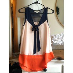 Color Block Dress Top